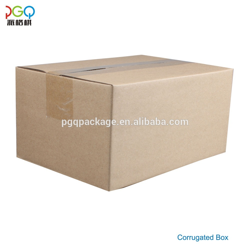 Recyclable brown corrugated shipping kraft packaging carton box